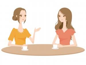 お茶する女性たち