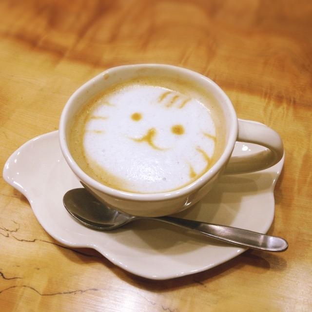 コーヒー猫アート