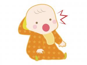 驚く赤ちゃん